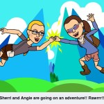 Sherri and Angie Going on Adventure