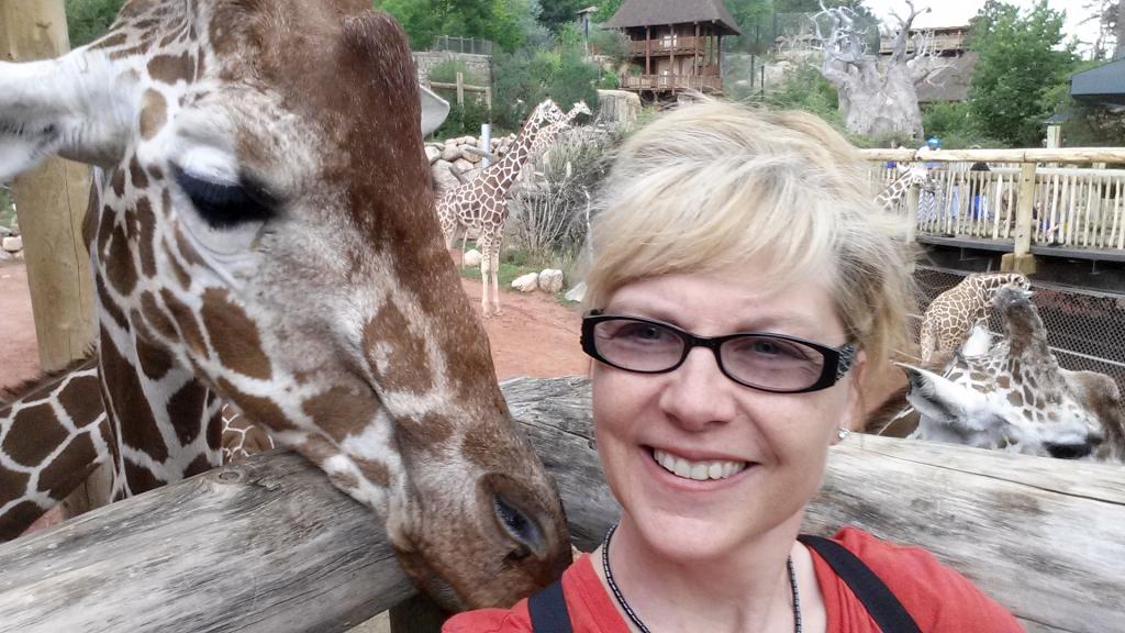 Sherri and Giraffe