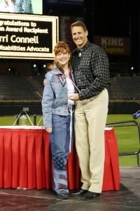 Sherri and President of Rockies