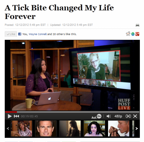 A Tick Bite Changed My Life Forever - Huffington Post 12-12-2012 Set 2