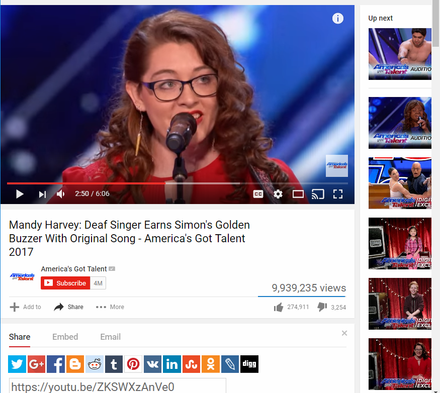 Mandy Harvey's America's Got Talent Audition gets Golden Buzzer from Simon Cowell