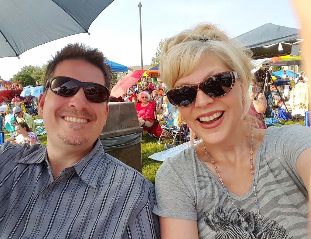Wayne and Sherri having a great time at the Mandy Harvey Concert